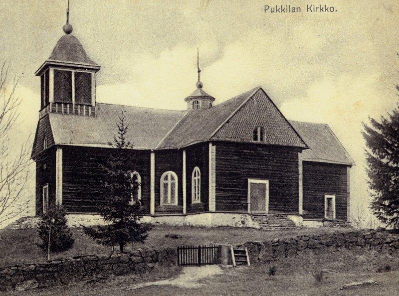 Pukkilan kirkko ennen 1914 tehtyä peruskorjausta